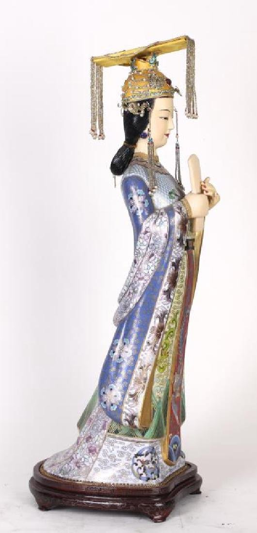 CHINESE CLOISONNE FIGURE - 2