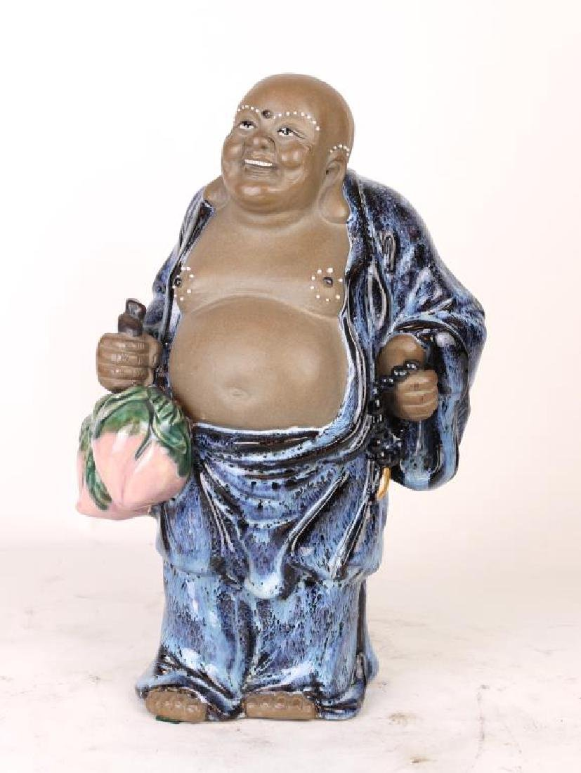 CHINESE POTTERY HAPPY BUDDHA