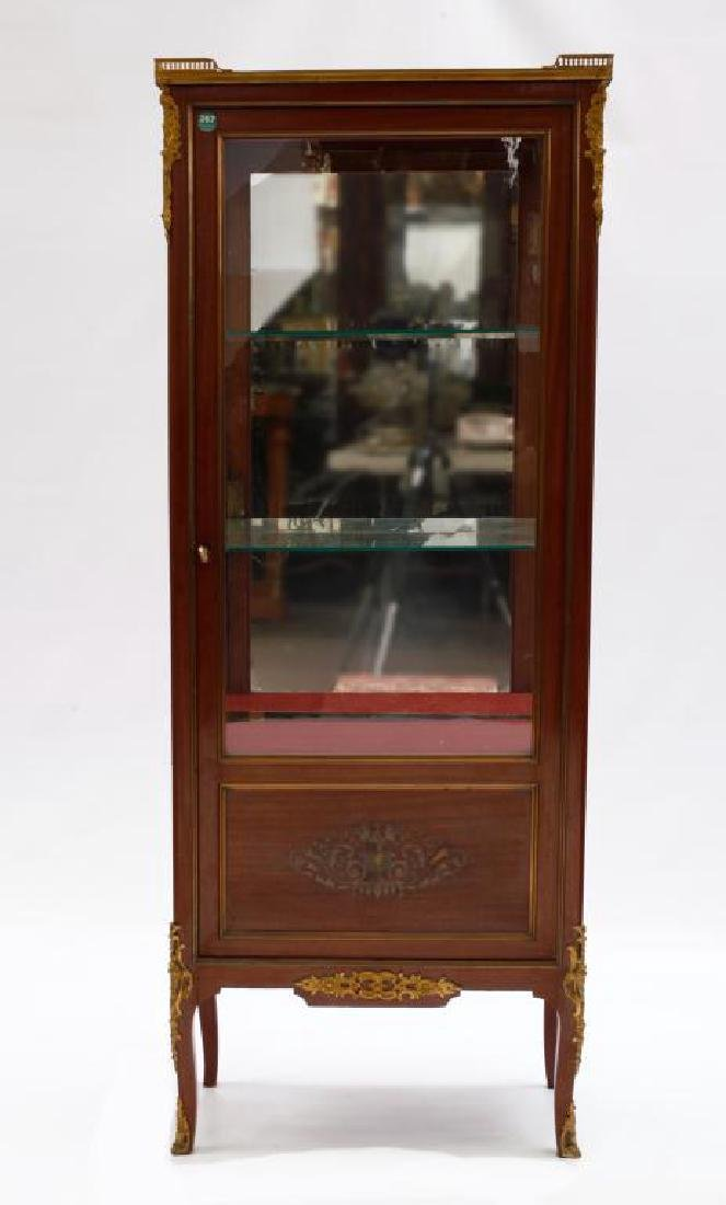 19TH C. EUROPEAN SHOWCASE CABINET WITH INLAYS