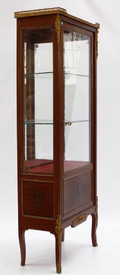 19TH C. EUROPEAN SHOWCASE CABINET WITH INLAYS - 2