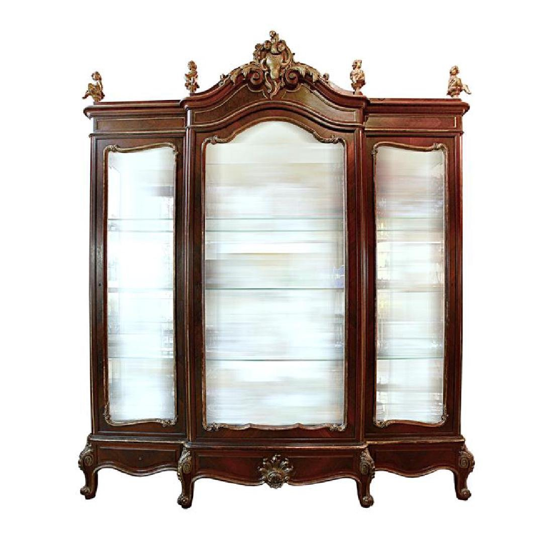 19TH CENTURY ORMOLU-MOUNTED FRENCH SHOW CABINET
