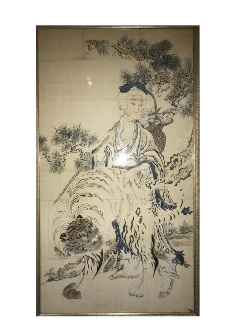 FRAMED ANTIQUE CHINESE PAINTING