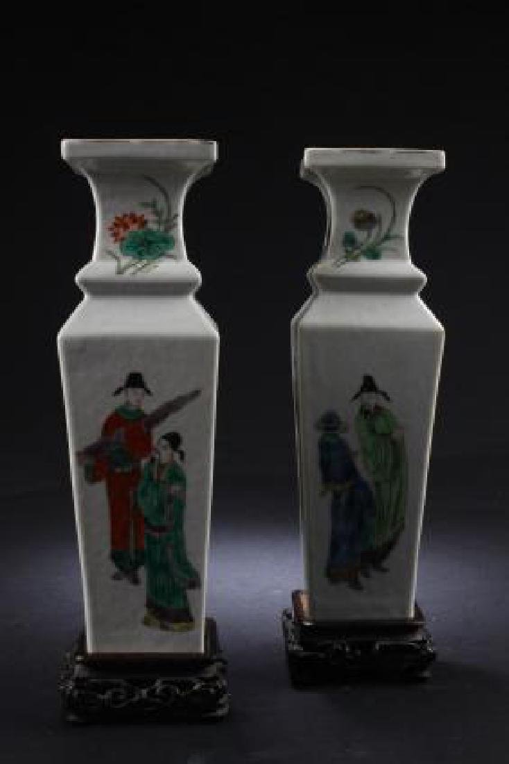PAIR OF ANTIQUE CHINESE PORCELAIN VASES - 2