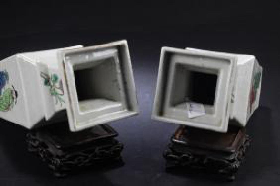 PAIR OF ANTIQUE CHINESE PORCELAIN VASES - 3
