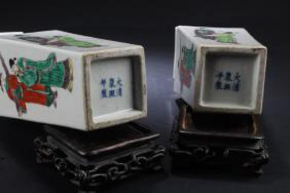 PAIR OF ANTIQUE CHINESE PORCELAIN VASES - 4