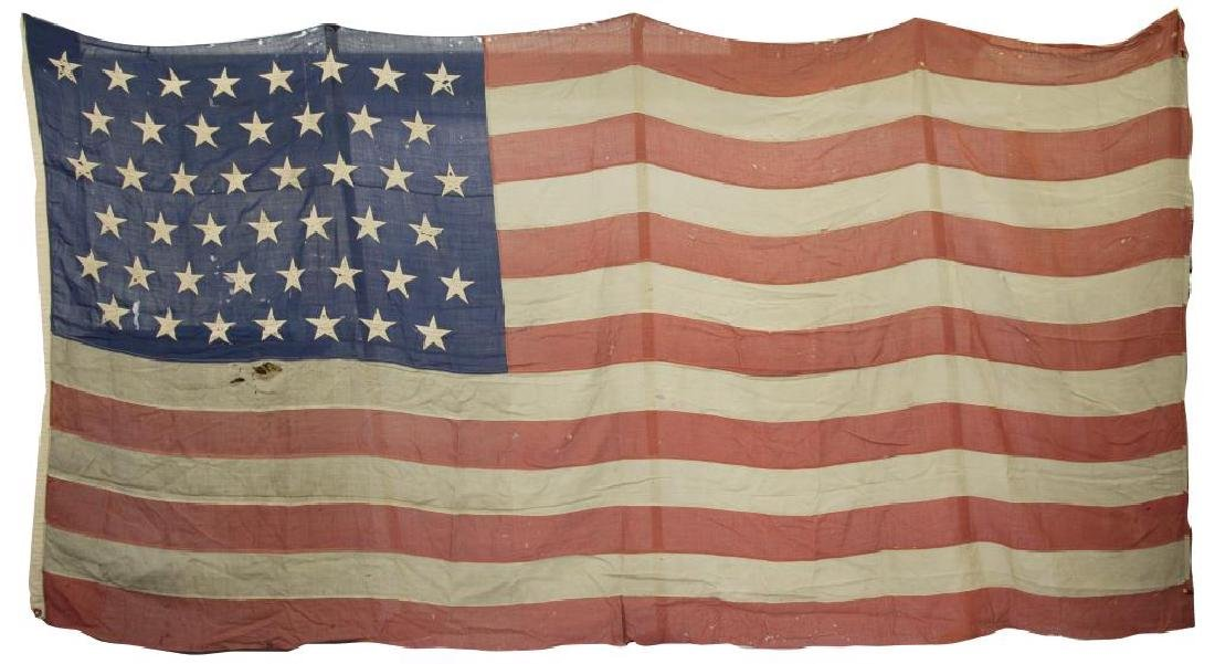 ANTIQUE HAND STITCHED AMERICAN FLAG