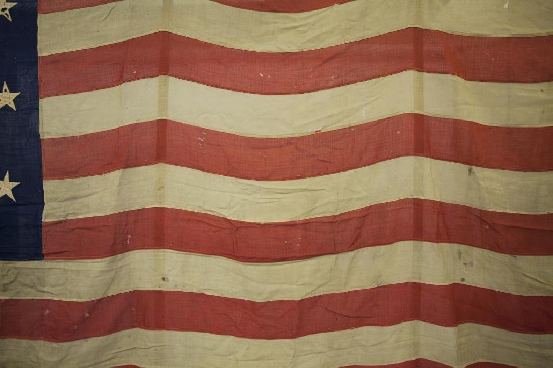 ANTIQUE HAND STITCHED AMERICAN FLAG - 2