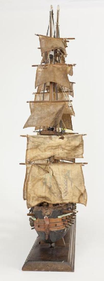 LARGE WOODEN MODEL SHIP - 3