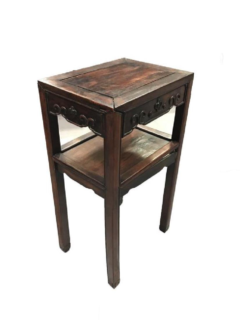 ANTIQUE CHINESE HARDWOOD SIDE TABLE