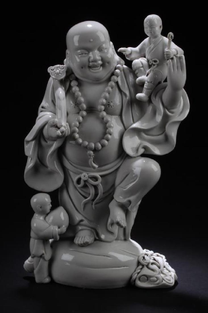 CHINESE BLANC DE CHINE BUDDHA STATUE