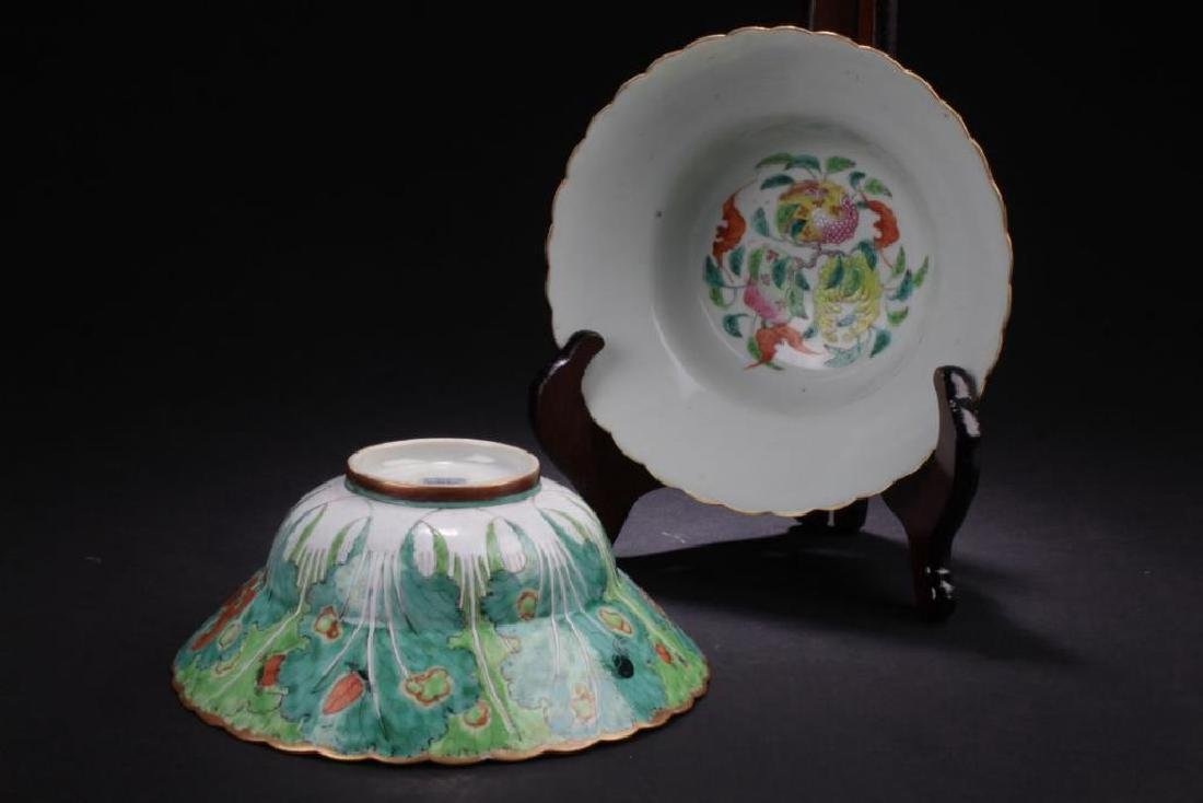 PAIR OF ANTIQUE CHINESE FAMILLE ROSE BOWLS