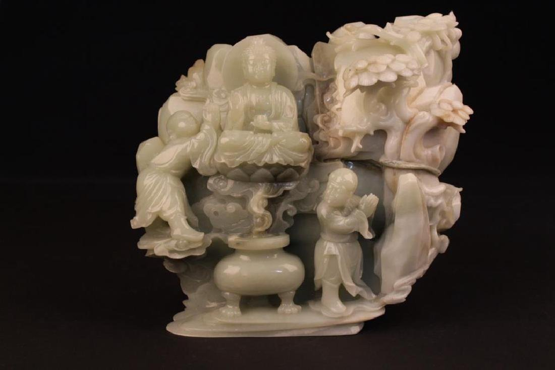 CHINESE JADE CARVED ORNAMENT