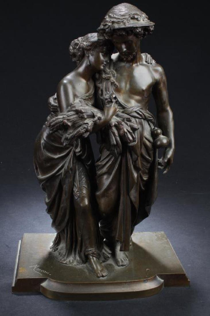 ANTIQUE EUROPEAN STYLE BRONZE STATUE