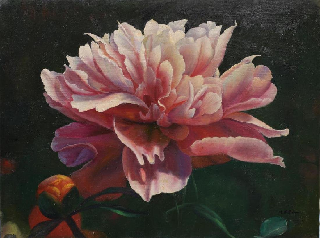OIL PAINTING ON CANVAS OF FLOWERS