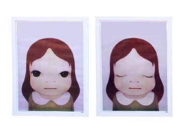 YOSHITOMO NARA PRINT OF A COSMIC GIRL