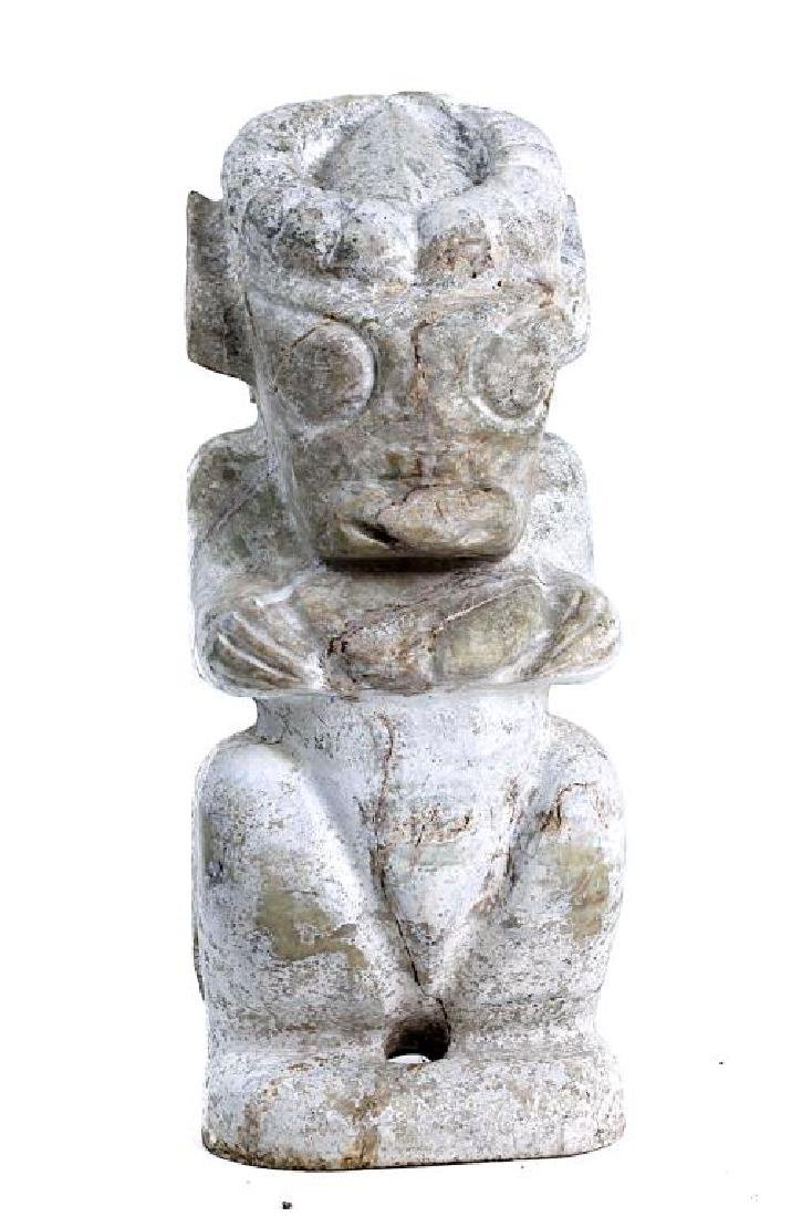 HONG SHAN CULTURE STYLE CARVED JADE FIGURE