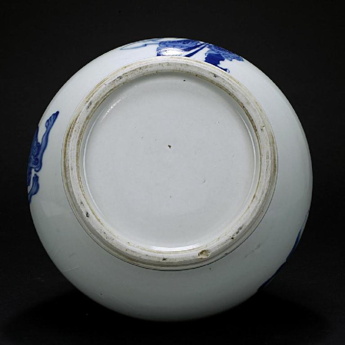 JAPANESE ANTIQUE HIRADO BLUE AND WHITE VASE - 5