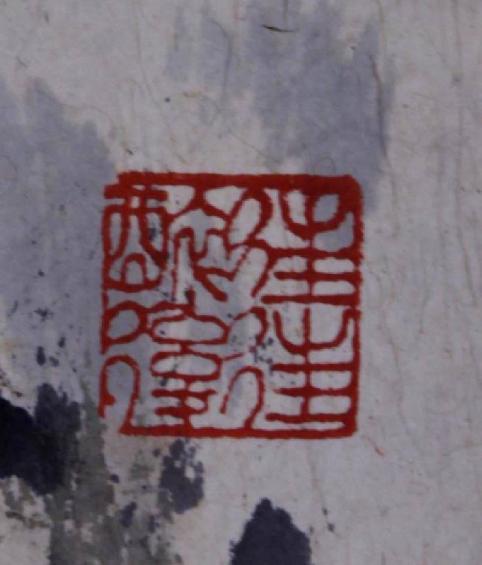 CHINESE SCROLL PAINTING OF THREE FIGURES - 2