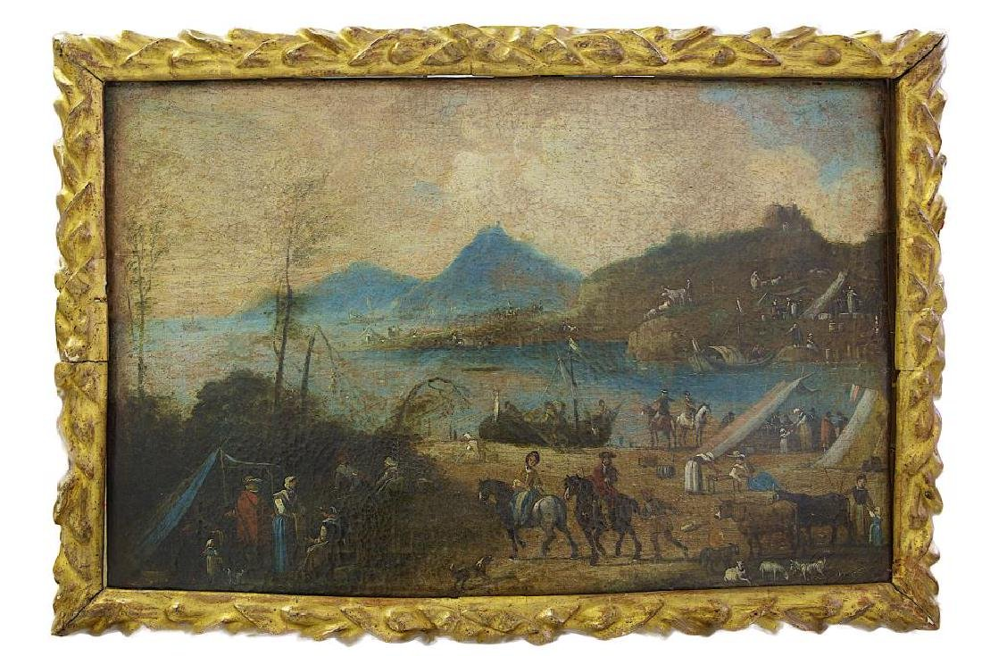 18TH C. OIL PAINTING ON CANVAS OF SAN FRANCISCO