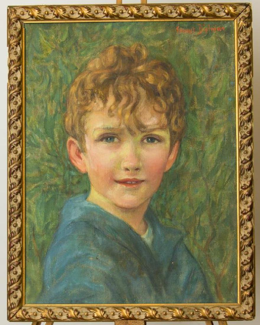 PORTRAIT PAINTING OF A BOY, OIL ON CANVAS
