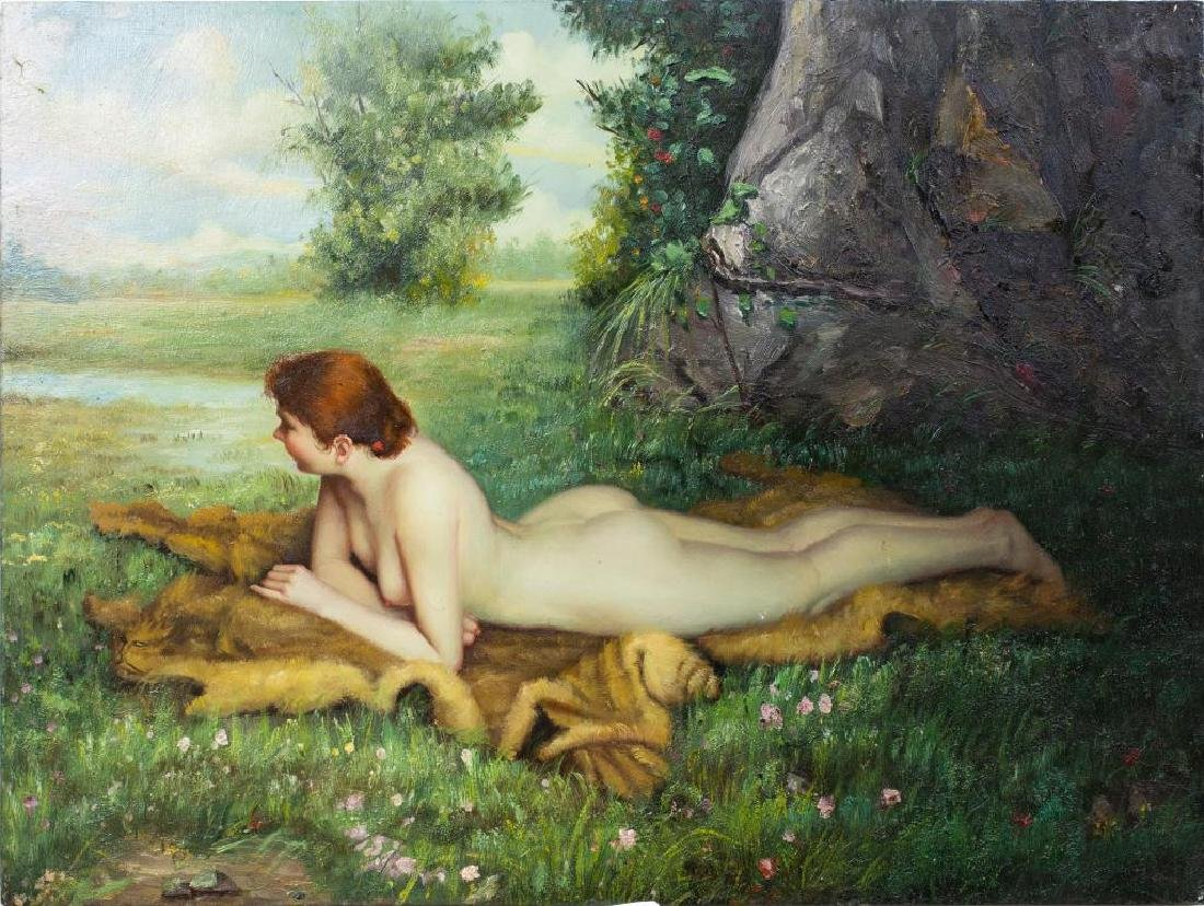PAINTING OF A NUDE WOMAN ON BOARD