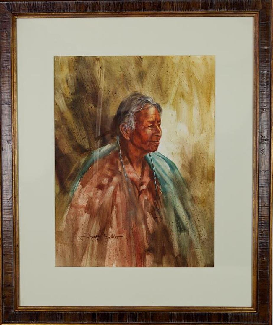 FRAMED WATERCOLOR PAINTING BY JOSEPH BOHLER