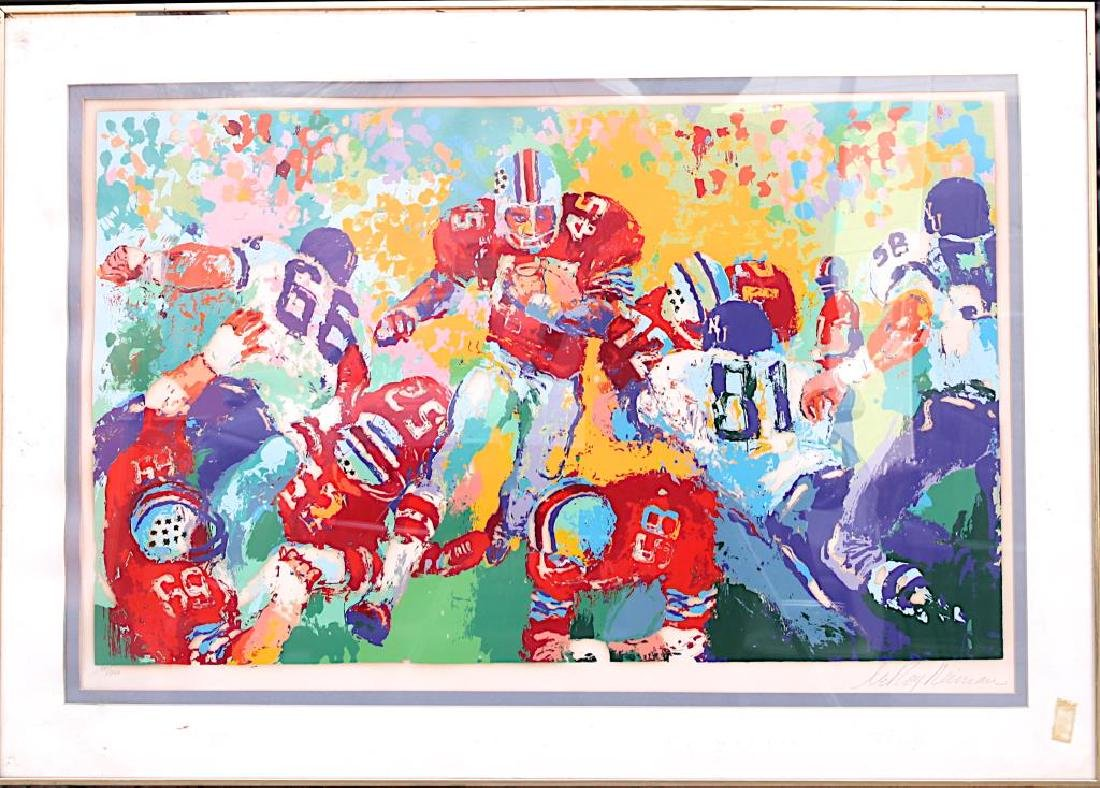 LEROY NEIMAN SERIGRAPH OF FOOTBALL PLAYERS