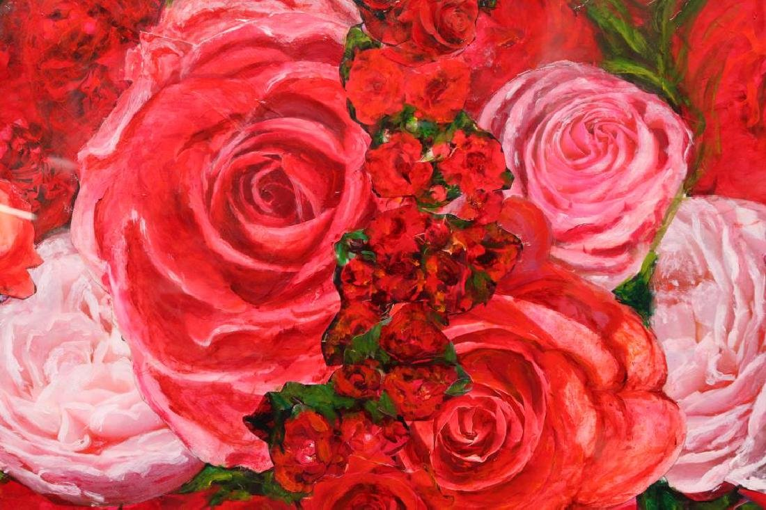 "OIL PAINTING OF "" A ROSE BOWERY"" - 3"