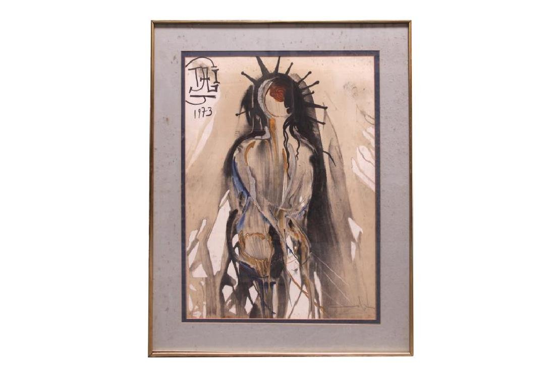 FRAMED ABSTRACT PRINT OF A WOMAN