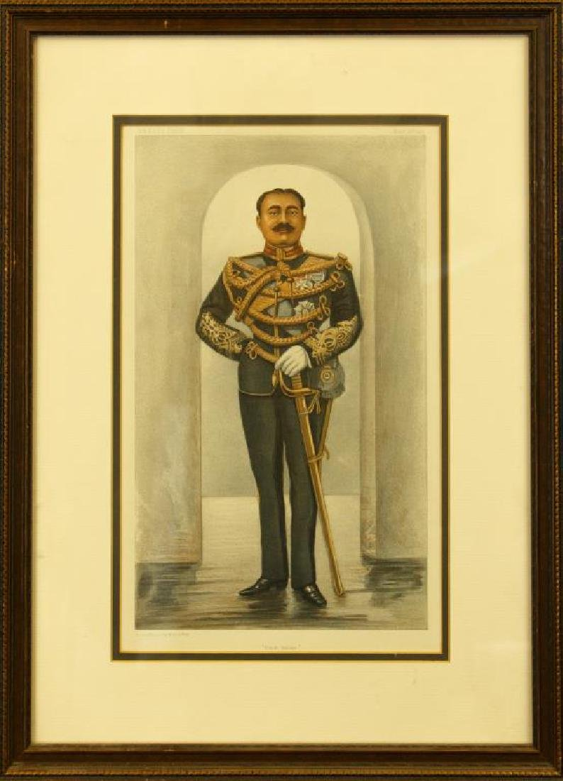 FRAMED PORTRAIT OF AN INDIAN PRINCE