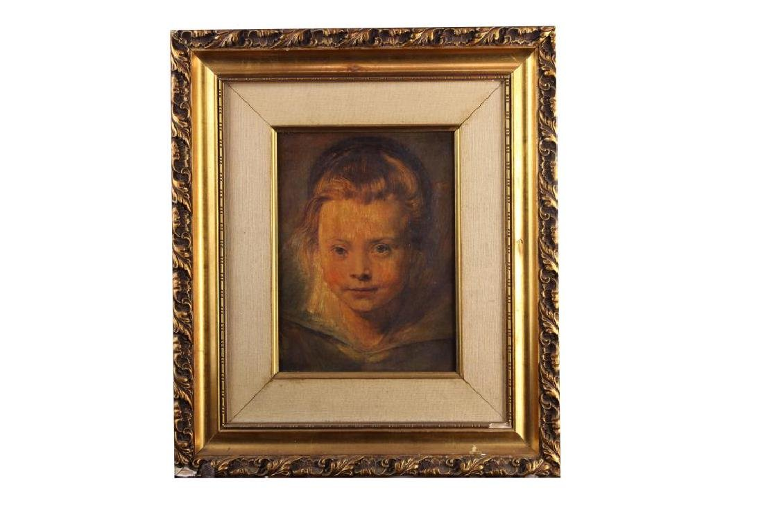 OIL PAINTING ON CANVAS OF A PORTRAIT OF A CHILD