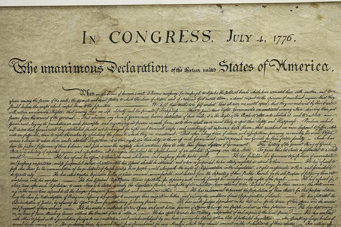 FRAMED PRINT OF THE DECLARATION OF INDEPENDENCE - 2