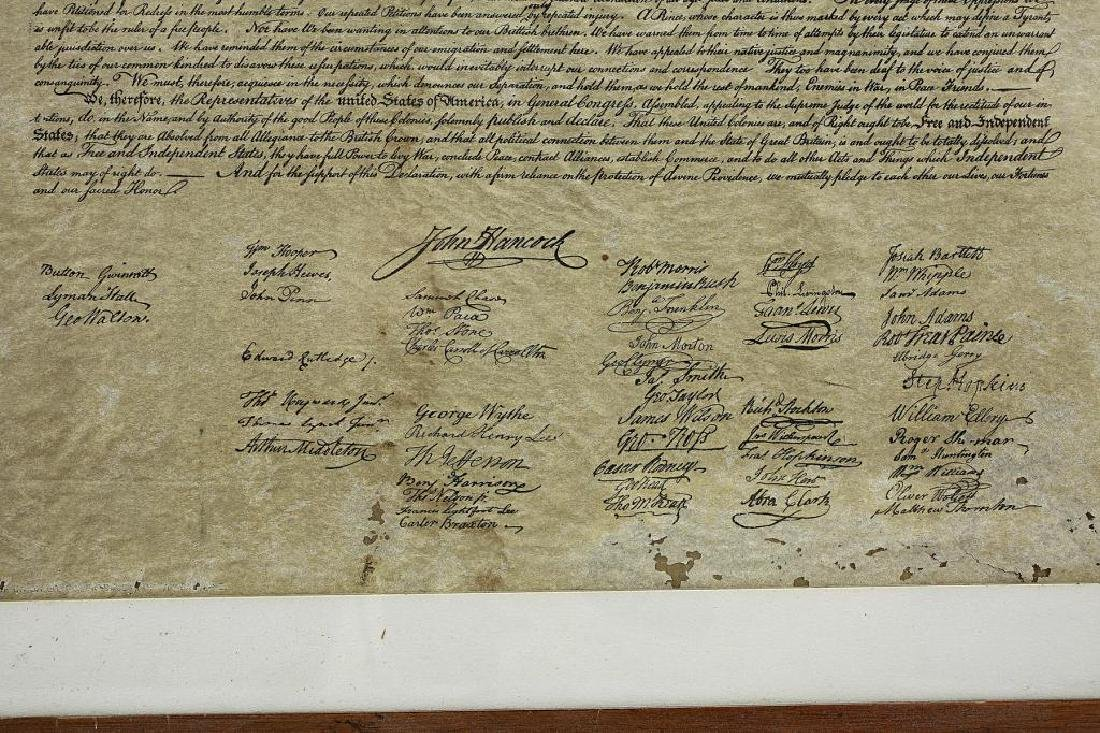 FRAMED PRINT OF THE DECLARATION OF INDEPENDENCE - 3