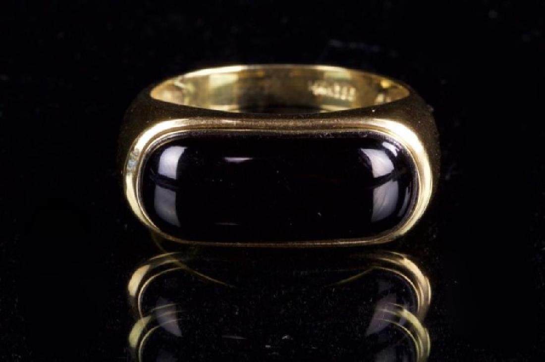 14K GOLD RING WITH ONYX - 2