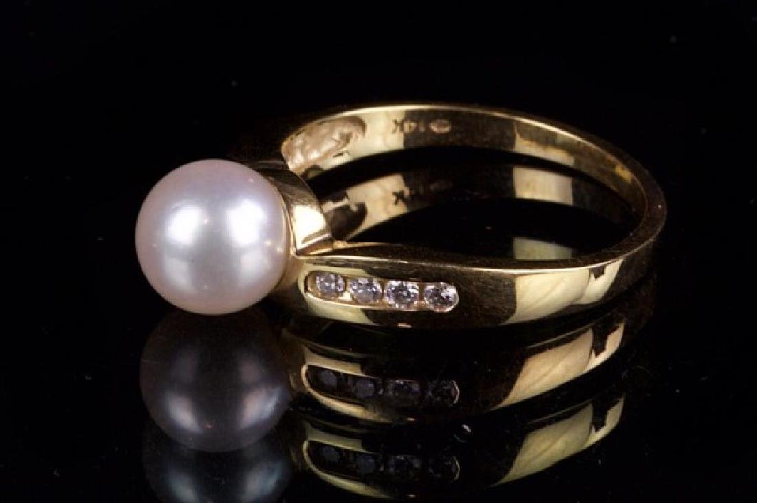 14K GOLD RING WITH PEARL - 2