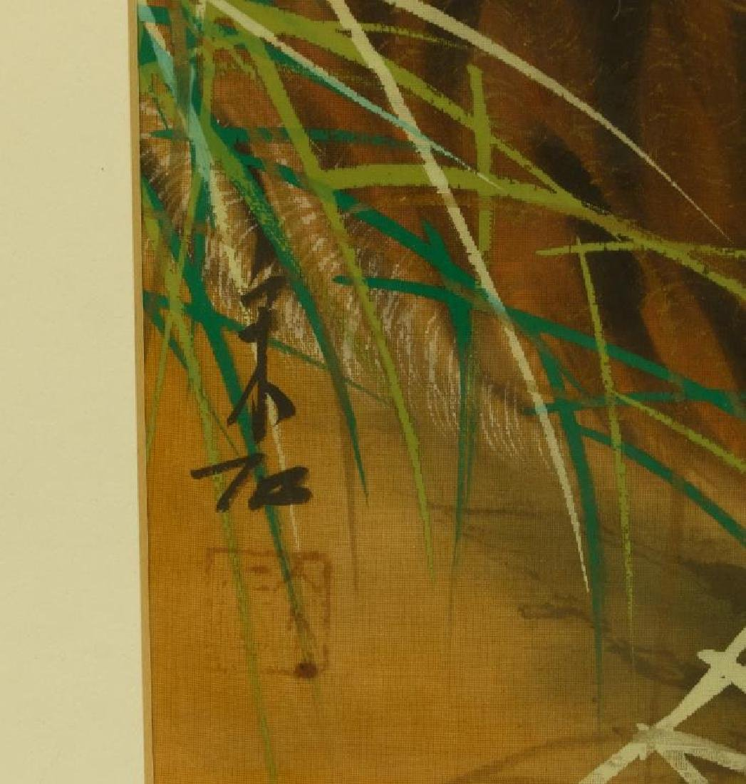 FRAMED CHINESE PAINTING OF TWO TIGERS - 2