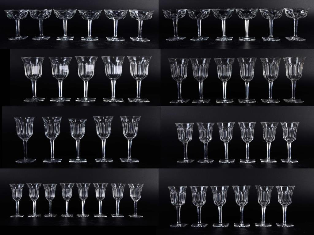 SET OF 48 BACCARAT CRYSTALL WINE GLASSES