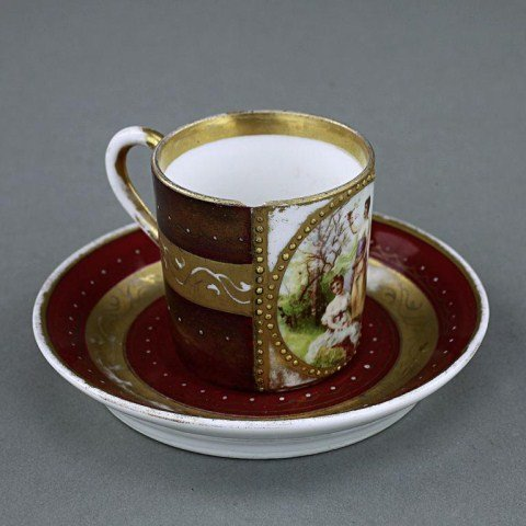 FRENCH CUP AND SAUCER