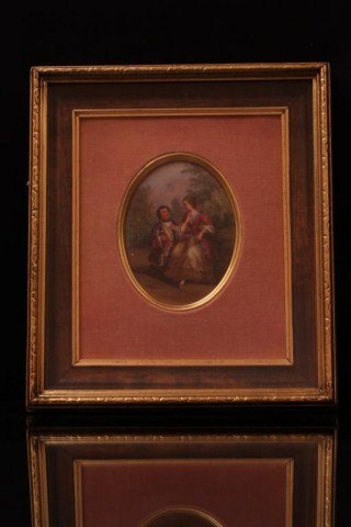 19TH CENTURY HAND-PAINTED FRENCH PORCELAIN PLAQUE