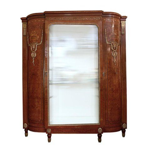 ORMOLU-MOUNTED ANTIQUE FRENCH SHOW CABINET