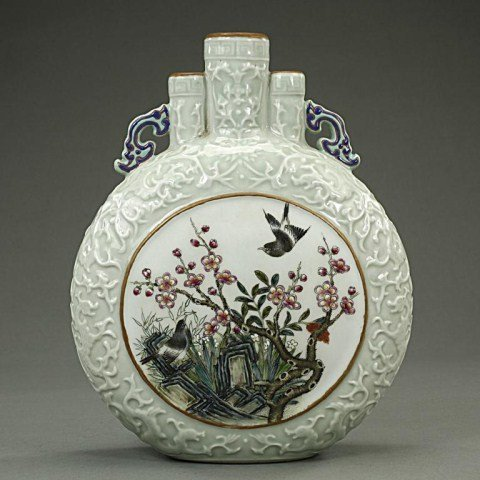 CHINESE THREE SPOUTED MOONFLASK VASE