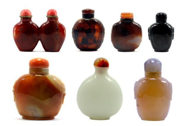 SET OF SEVEN (7) CHINESE  SNUFF BOTTLES