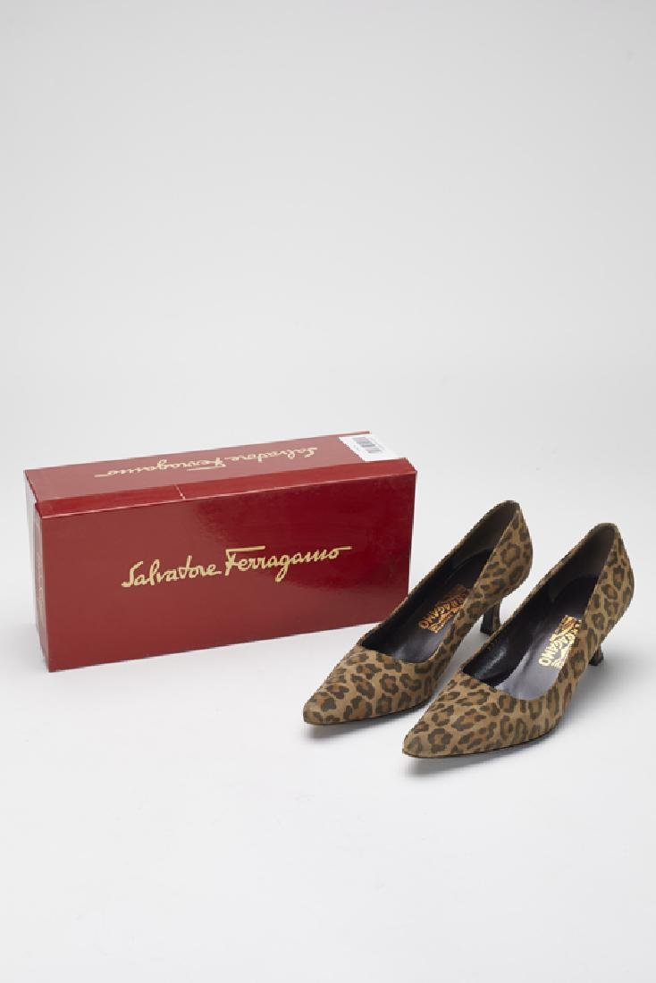 Ferragamo Brown Animal Print Slides (8.5-Narrow)
