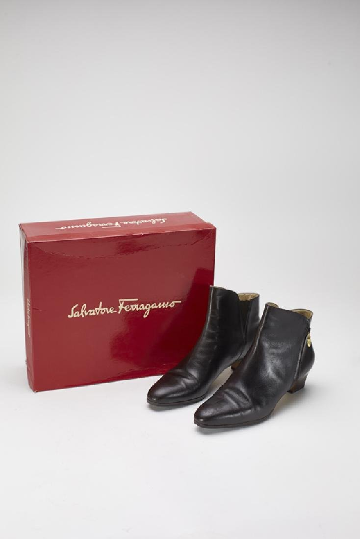 Ferragamo Tancredi Brown Leather Boots (8.5AA)