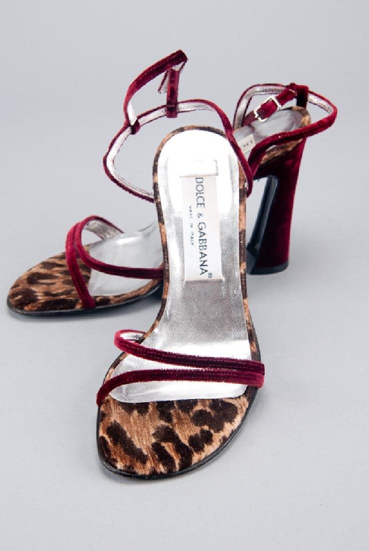 Dolce & Gabbana Red Velvet High Heels (5.5/35.5)