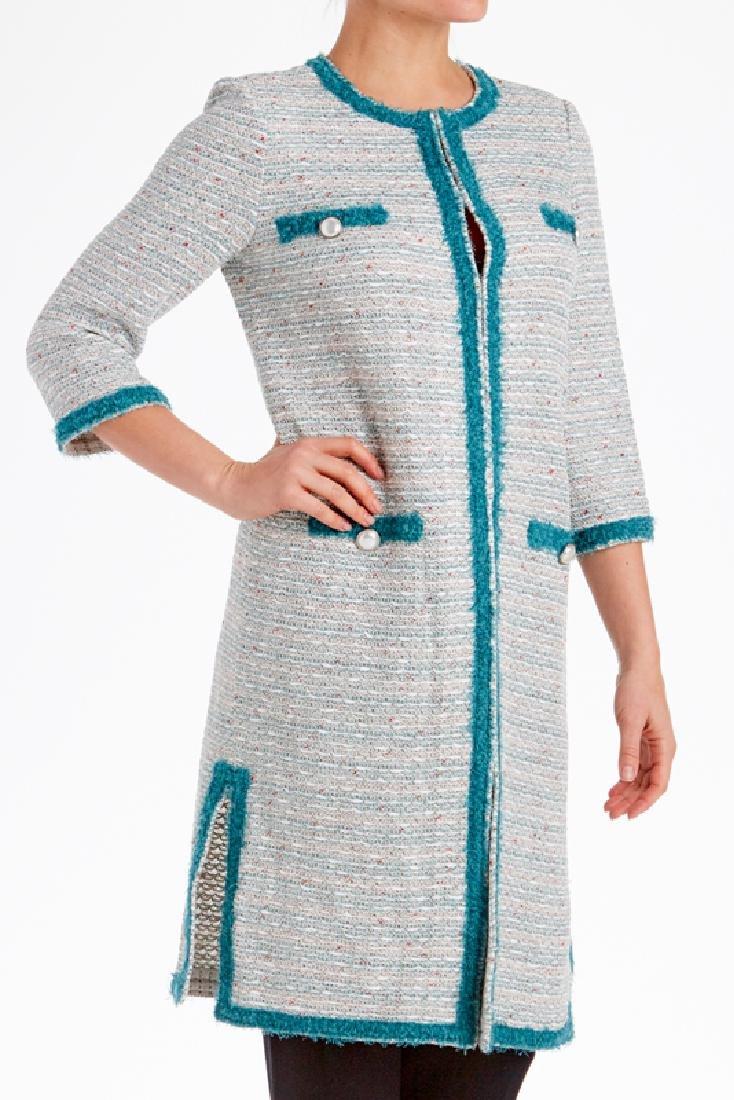 St John Cream Multi Tweed Knit Jacket (6)