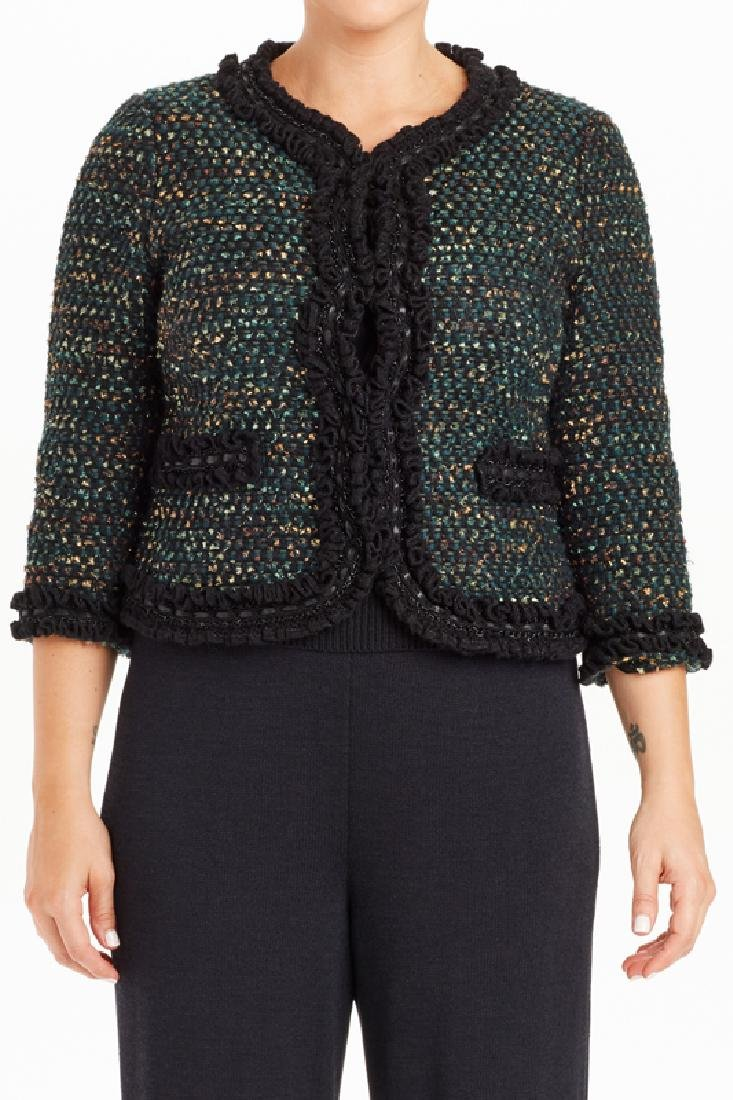 St John Black Multi Tweed Jacket (6)