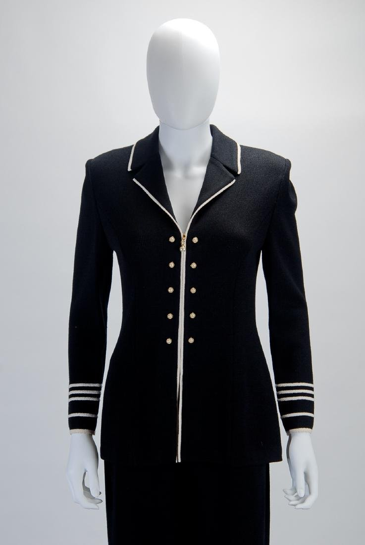 St John Black with Pearl Buttons Jacket (2)