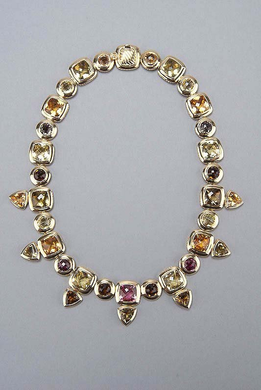 David Yurman 18K Gold & Gemstone Necklace
