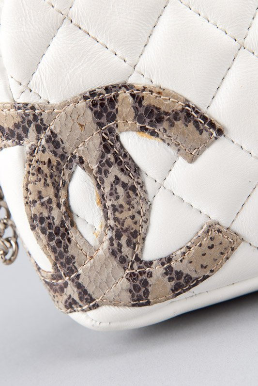 Chanel White Quilted Leather Cambon Pochette Shoulder - 2
